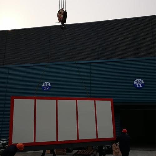 QXD4000电热水锅炉现场吊装